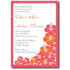 One Sided Wedding Invitations Colorful Wedding Invitations, Affordable Wedding Invitations, Floral Invitation, Wedding Colors, Wedding Flowers, Wedding Announcements, One Sided, Thank You Cards, Invites