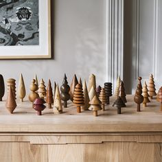 In love with these wooden trees from Midgely Green handmade gift An Ethical & Thoughtful Gift Guide — Field and Nest Lathe Projects, Wood Turning Projects, Wood Projects, Woodworking Projects, Woodworking Lathe, Christmas Wood, Christmas Crafts, Christmas Decorations, Handmade Pottery