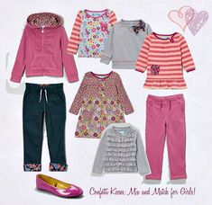 How to build a mix and match wardrobe for girls - makes it super easy for them to pick out their own outfits!