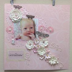 Newborn: a sweet new blossom of humanity Scrapbook Sketches, Scrapbook Page Layouts, Scrapbook Albums, Scrapbook Cards, Baby Girl Scrapbook, Birthday Scrapbook, Wedding Scrapbook Pages, Diy Bebe, Creative Memories