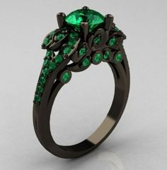 Green Diamond Engagement Ring 2.36 Ct Green por SolitaireJewelry