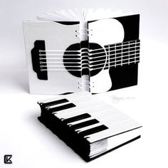 Beautiful guitar hand bound book. Music by ~kinga76 on deviantART