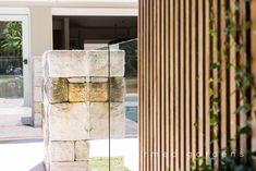 Glass Pool Fencing, Pool Fence, Garden Landscape Design, Garden Landscaping, Swimming Pool Designs, Swimming Pools, Timber Battens, Garden Maintenance, Landscape Services