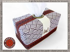 Extra Large Tissue Box Cover: Weekend Wonders Returns with Fabric.com