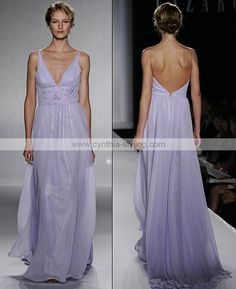 Embroidered lilac chiffon bridesmaids gown_ - Cynthia Prom Gown Online Shop