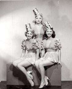 Three unknown Radio City Rockettes, 1938