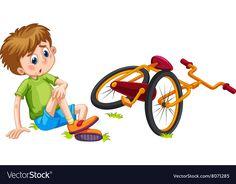 Boy Fallen Off Bicycle Illustration témájú stockvektorkép (jogdíjmentes) 389682550 Bicycle Illustration, Autumn Illustration, Cartoon Pics, Cute Cartoon, Little Girl Cartoon, Sequencing Cards, School Clipart, Baby Clip Art, Video X