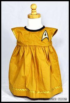 Star Trek Original Series Uniform Inspired Sun Dress   Geek-a-bye Baby