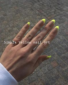 Neon Nails Are the Fun, Fluorescent Way to Brighten Up Your DayYou can find Neon nails and more on our website.Neon Nails Are the Fun, Fluorescent Way to Brighten Up You. Neon Nails, Cute Acrylic Nails, Cute Nails, My Nails, Neon Nail Art, Pretty Nails, Pink Nails, Yellow Nails Design, Yellow Nail Art