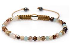 Karma Armband Spiral Anemone XXS cm 84217 - Another! Yarn Bracelets, Bracelet Crafts, Fashion Bracelets, Jewelry Crafts, Fashion Jewelry, Rope Jewelry, Beaded Jewelry, Handmade Jewelry, Bracelet Making