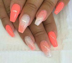 Holiday acrylic nails, summer holiday nails, acrylic nails 2017 t Acrylic Nails 2017, Holiday Acrylic Nails, Summer Holiday Nails, Cute Acrylic Nails, Glitter Nails, Glitter Art, Acrylic Nails For Summer Glitter, Crazy Summer Nails, Nail Summer