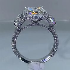 3 Stone Diamond Ring, Beautiful Diamond Rings, Beautiful Engagement Rings, Diamond Engagement Rings, Bridal Rings, Wedding Rings, Jewelry Rings, Jewelery, Luxury Jewelry