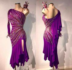 VESA purple Latin sunburst dress