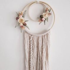 Boho Dreamcatcher Dried Flowers Wallhanging Dream