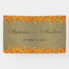 #affiliatelink #promo Autumn Fall Color Leaves Wedding - Anniversary Banner #red #yellow #orange #leaves #nupitals #Banner #halloweenfavors #halloweenparty #halloween #halloweenentertaining #zazzle Anniversary Banner, Anniversary Parties, Wedding Anniversary, Wedding Color Schemes, Wedding Colors, Halloween Entertaining, Halloween Party Favors, Thanksgiving Gifts, Party Guests