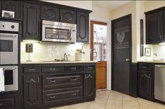 black kitchen <3 from...Kolme kotia