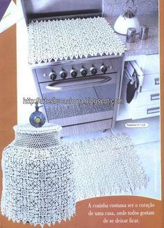Artes by Cachopa - Croche & Trico: Jogo de cozinha - De beleza e de prazer