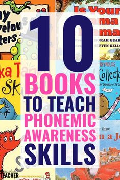 I love using books to practice phonemic awareness skills. These books provide fun and engaging auditory practice in the form of an entertaining read aloud! Teaching Letters, Teaching Phonics, Phonics Activities, Teaching Resources, Phonics Games, Kindergarten Reading, Teaching Reading, Preschool Kindergarten, Guided Reading