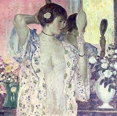 Frederick Carl Frieseke - The hand mirror