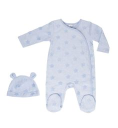 Boys All In One And Hat Blue Plush- Baby Clothes - Boots | Up to 7.5lb