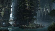 Crysis 3| Ancient giants by Pino44io city ruins future landscape location environment | Create your own roleplaying game material w/ RPG Bard at www.rpgbard.com | Writing inspiration for Dungeons & Dragons DND Pathfinder PFRPG Warhammer 40k Star Wars Shadowrun Call of Cthulhu and d20 fantasy science fiction scifi horror design | Not our art: please click artwork for source