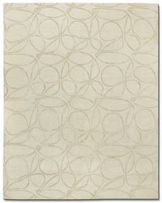 Tufenkian Carpets | Clover Loop in Marzipan by Kevin Walz