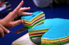 Stained Glass Jello Cake..I'd probably be able to eat this! Haha dumb wisdom teeth :(