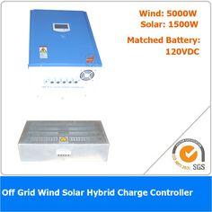 6500W 120VDC Off Grid Wind Solar Hybrid Charge Controller, 5000W Wind Power, 1500W Solar Power #Affiliate