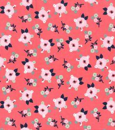 Nursery Flannel Fabric 42''-Bright Small Floralnull