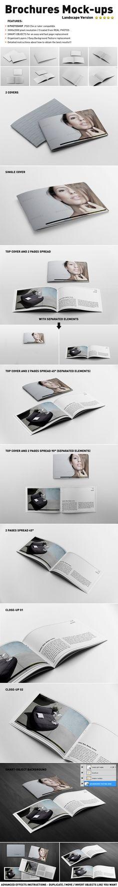 Photorealistic Brochure Mock-ups Templates by Andrea Balzano, via Behance