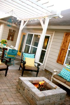 backyard bliss: installing patio pavers and a fire pit {diy patio} {diy fire pit} | the handmade home
