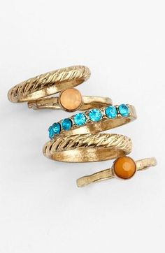 Turquoise & Camel Stackable Rings