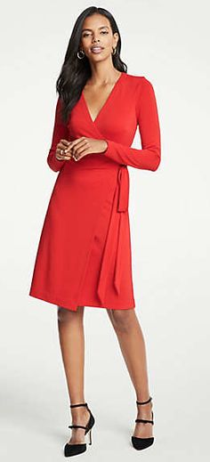 4baf06a093 ANN TAYLOR Meet our classic wrap dress  the must-have silhouette that fits  and