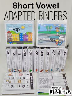 short vowel adapted binders for cvc words. Make phonics activities hands on. CVC phonics activities that will stick with your students. Perfect for kindergarten phonics instruction.