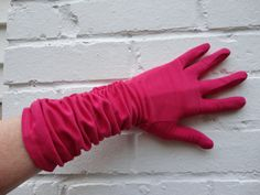Hot pink gloves who can resist by landofaahs on Etsy, $28.00