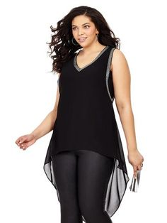 Plus Size CITY CHIC Strappy Glam Top
