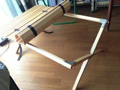 Collapsible wooden slat table DIY