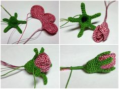 crochet rose buds @Anna Totten Totten Totten Halliwell Boyd Fontaine collection