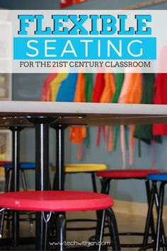 Are you interested in trying flexible seating in your classroom? Learn ideas for creating an alternative seating environment for the Modern Classroom, Classroom Layout, Classroom Organisation, Classroom Design, Classroom Decor, Classroom Management, Classroom Furniture, Behavior Management, Future Classroom