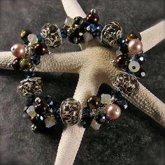 Wild and Untamed Lampwork beads Stretch by XannasJewelryBox, $49.00