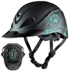 Take a trot on the wild side with Troxel's Rebel Rose helmet. Embrace your edgy side in 2014! The Rebel gets a new look with Troxel's new animal print headliners! For the wild at heart.  http://www.troxelhelmets.com/products/rebel