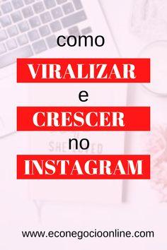 Instagram Marketing, Crescendo, Instagram Blog, Marketing Digital, Make Money At Home, Instagram Ideas, Social Networks, Social Media Marketing, Lets Go