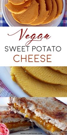 easy to make Sweet Potato Cheese Vegan Plant-Based Cheese Recipe from . Uses common ingredients to make a tasty, sliceable cheese. Vegan Cheese Recipes, Vegan Breakfast Recipes, Vegan Recipes Easy, Dairy Free Recipes, Vegan Sweet Potato Recipes, Vegetarian Recipes, Xmas Recipes, Gluten Free, Keto Cheese