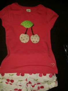 Cherries applique.