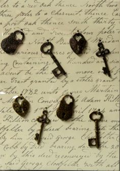 Metal Keys & Padlocks Charms Embellishments are available at Scrapbookfare.