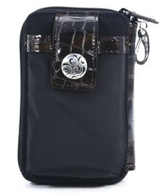 Brighton Black Chocolate Twister ID Card Phone Case Wallet Brighton. $72.99