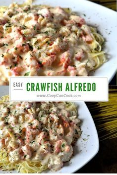 Cajun twist on an Italian classic. My Crawfish Alfredo recipe! Crawfish with every bite. And this creamy, rich alfredo sauce just takes it over the top!