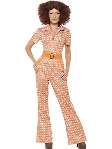 New-Adult-Female-Authentic-70-039-s-Chic-Retro-Smiffys-Fancy-Dress-Costume-4-Sizes