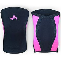 Athlos Fitness Knee Sleeves Pair Compression Sleeve Support for Squats Weightlifting and Powerlifting  5MM Neoprene BlackPink L -- You can get additional details at the image link.