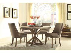 Homelegance Dining Room Round Pedestal Dining Table 5177-54